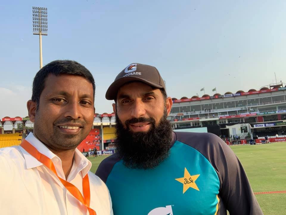 Russel Arnold With Pakistan Head Coach Misbah Ul Haq