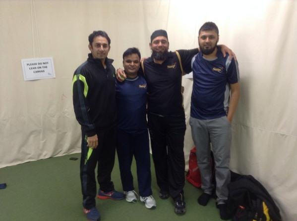 Saeed Ajmal At Saqlain Mushtaq Cricket Academy