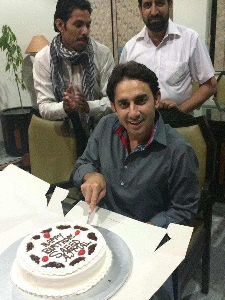 Saeed Ajmal Celebrated Birthday