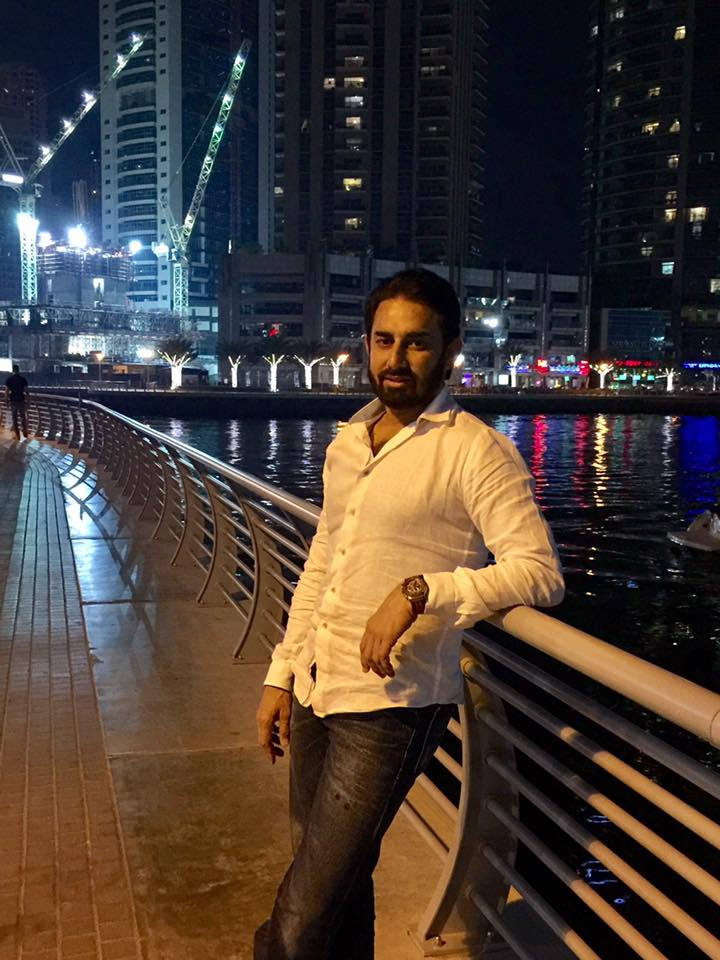 Saeed Ajmal In Dubai Marina