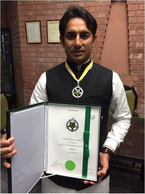 Saeed Ajmal Received Sitara-e-Imtiaz