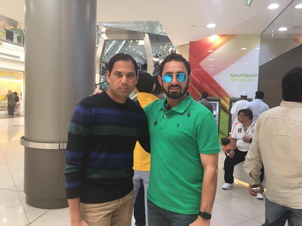 Saeed Ajmal With Zulfiqar Babar Doing Shoping In Dubai