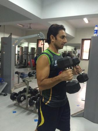 Saeed Ajmal Working Hard For Fitness At NCA Lahore
