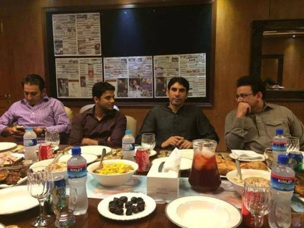 Saeed Ajmal, Azhar and Misbah Ul Haq At An Iftar Party