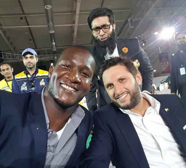 Sammy With Lala At PSL Draft