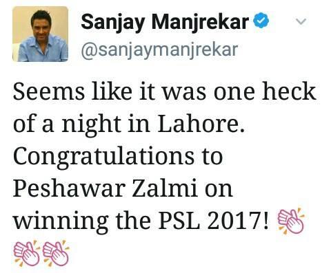 Sanjay Manjrekar Tweet