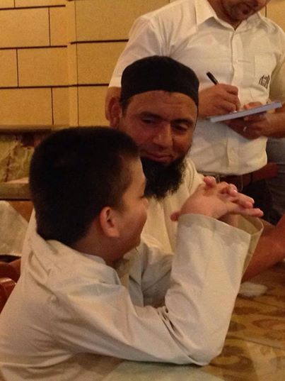 Saqlain Mushtaq With Son