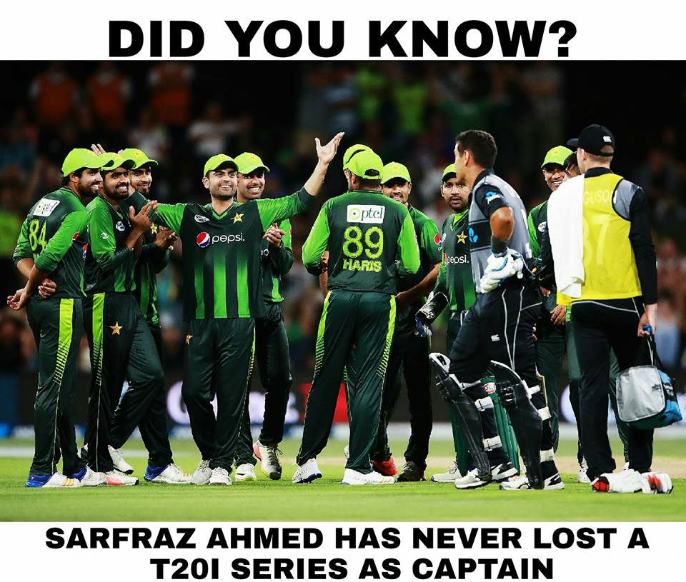 Sarfaraz Ahmad Has Never Loss T20 Series As A Captain