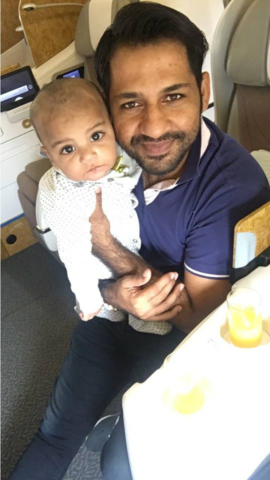 Sarfaraz Traveling To Manchester With His Little Champ