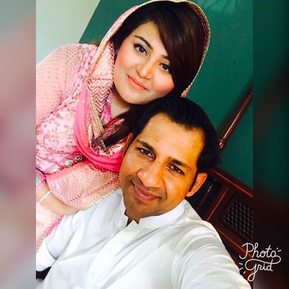 Sarfraz Ahmed Celebrating Eid With His Wife
