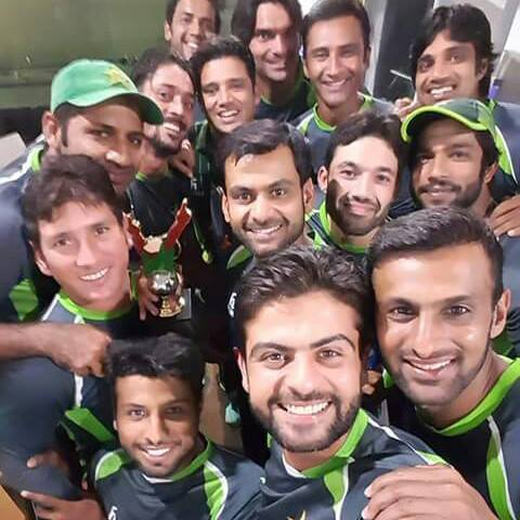 Selfie Pakistan Win Pak Vs Sri Series