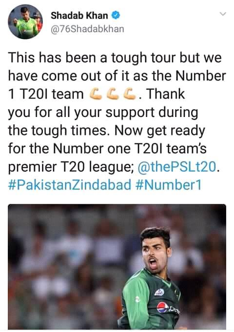 Shadab Khan Tweeted About His NZ Tour