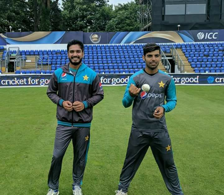 Shadab Khan & Ruman Raees At Cardiff