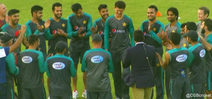 Shaheen Afridi Handed His First International Cap By Wasim Akram