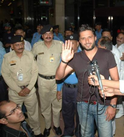 Shahid Afridi After Arriving in Bangladesh For WorldT20