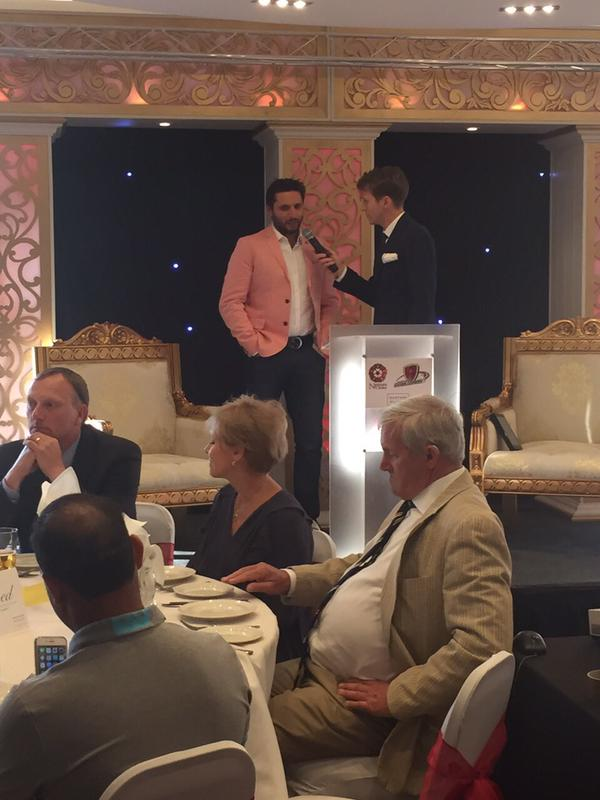 Shahid Afridi At Dinner Party Of Northants Cricket
