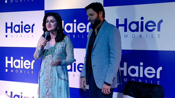 Shahid Afridi At Haier Mobile Launching Event