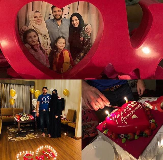 Shahid Afridi Celebrates His 18th Anniversary