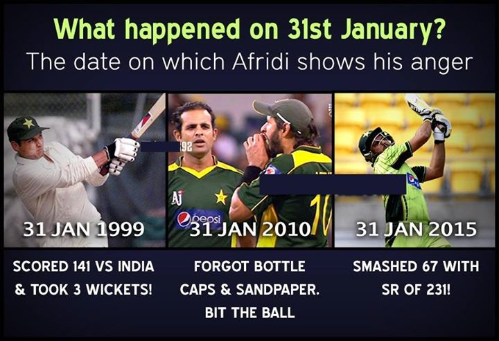 Shahid Afridi Favorite Date 31 January