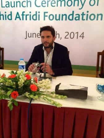 Shahid Afridi Foundation Launching Ceremony