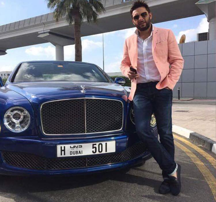 Shahid Afridi In Dubai