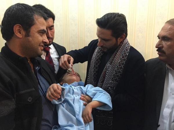 Shahid Afridi Inaugurated Polio Campaign in Quetta