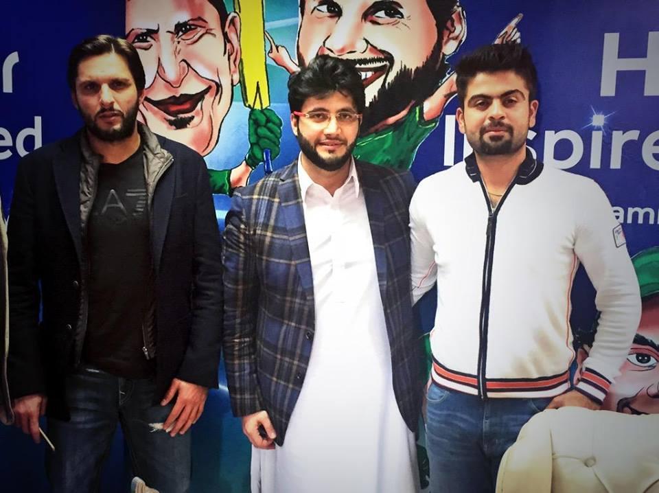 Shahid Afridi, Javed Afridi And Ahmad Shahzad