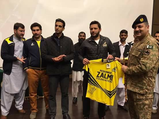 Shahid Afridi Launch Peshawar Zalmi Foundation
