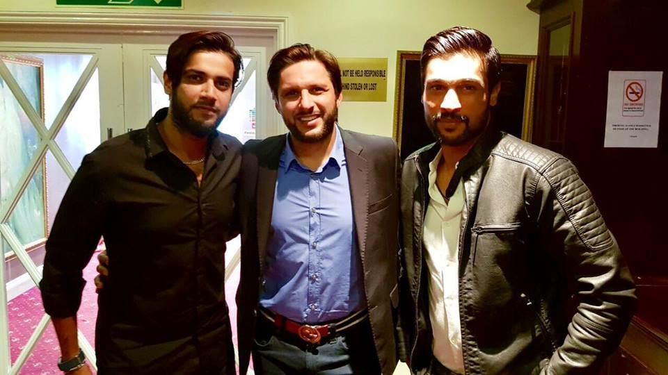 Shahid Afridi, Mohammad Amir & Imad Wasim At London