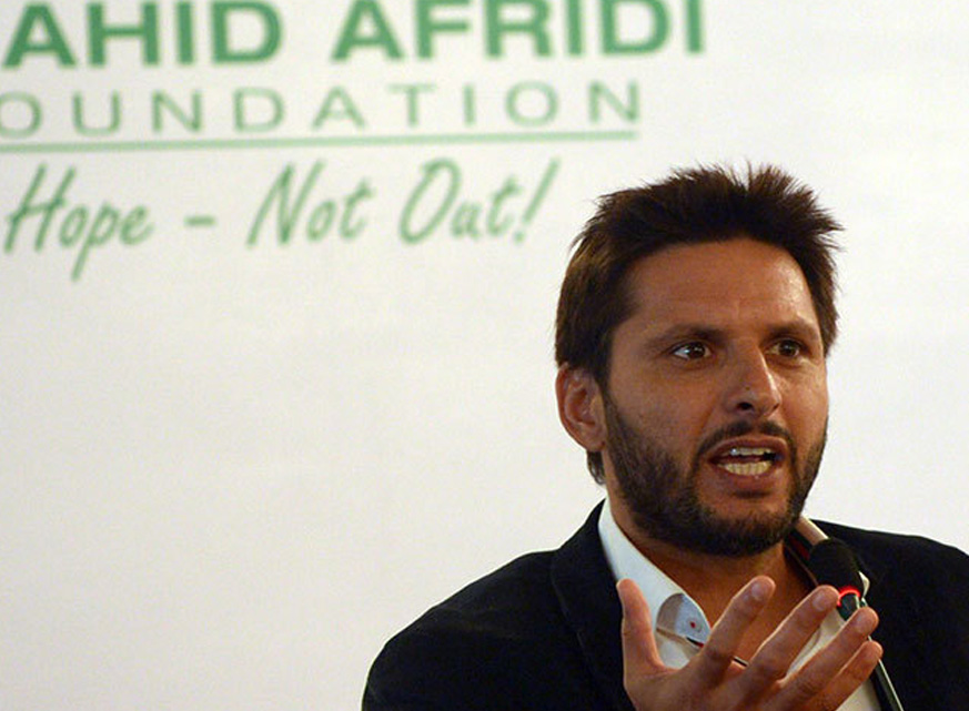 Shahid Afridi Named Among Top 20 Most Charitable Athletes of 2015