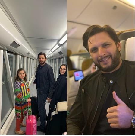 Shahid Afridi On His Way To Dubai For PSL 2019