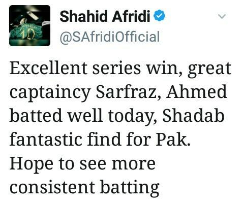 Shahid Afridi Praises Youngsters In Tweet