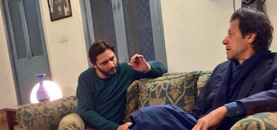 Shahid Afridi Visited Imran Khan To Congratulate Him On Wedding
