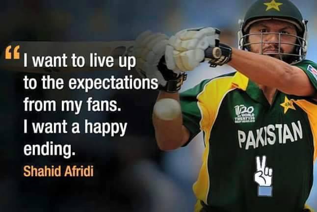 Shahid Afridi Wants Happy Ending
