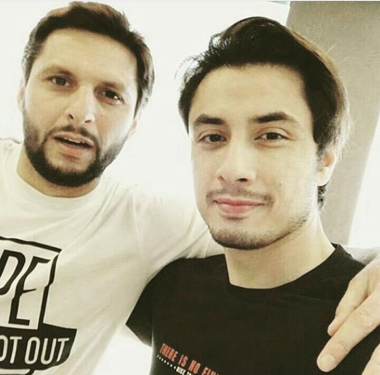 Shahid Afridi With Ali Zafar