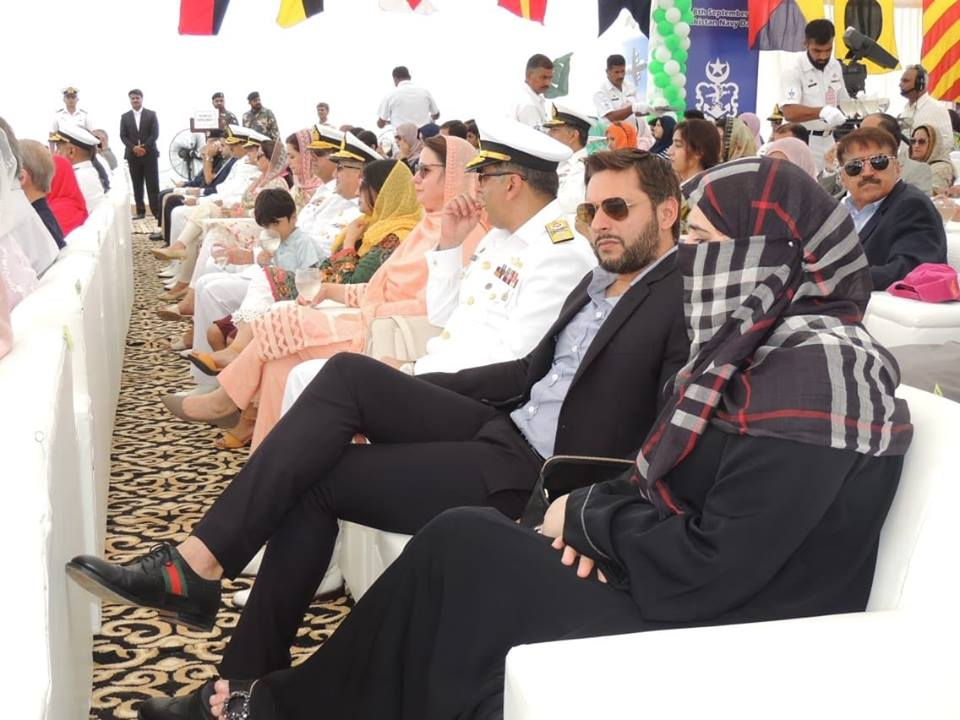 Shahid Afridi With His Family On Naval Day Defence Celebrations
