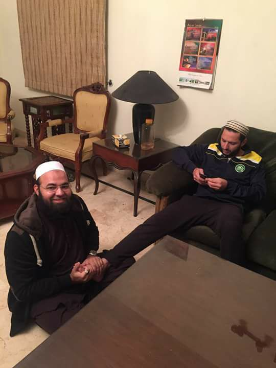 Shahid Afridi With His Friend
