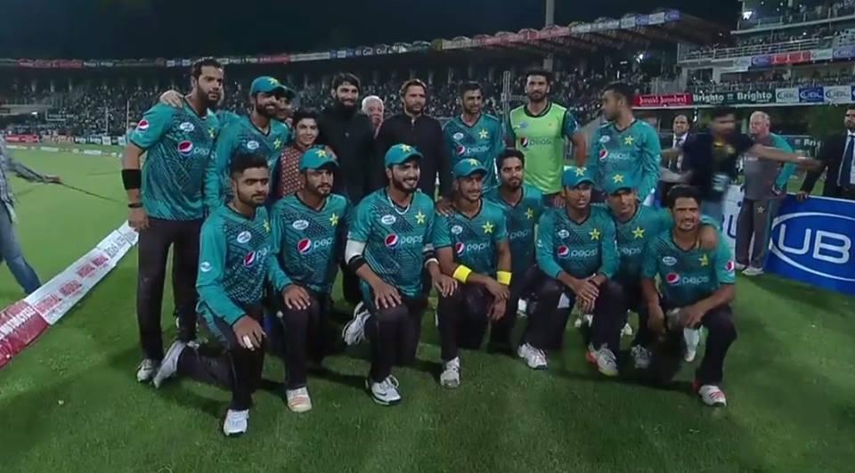 Shahid Afridi & Misbah ul Haq With Pakistan Squad