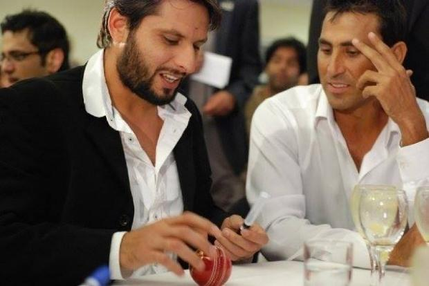 Shahid Afridi and Younis Khan together