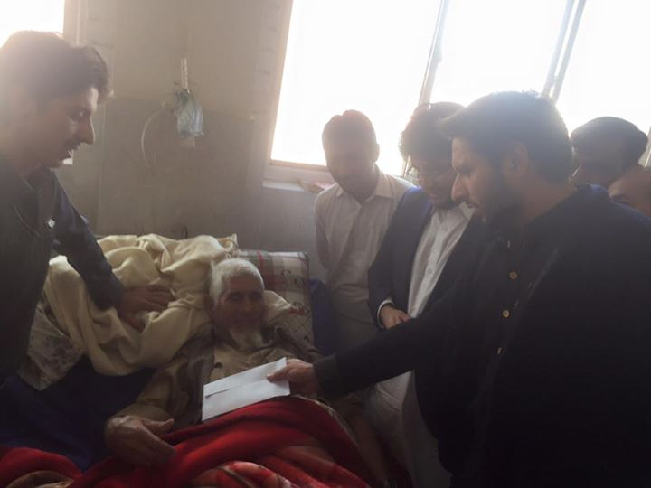Shahid Afridi check distributed among victims