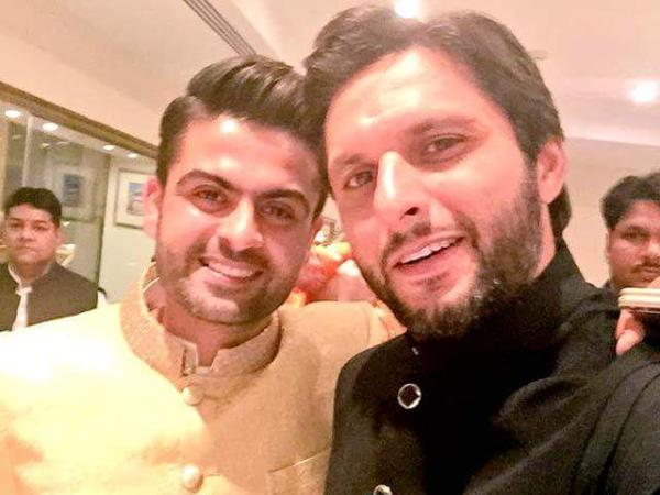 Shahid Afridi in Ahmed Shehzad Wedding