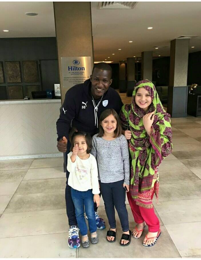 Shahid Afridi's‬ Daughters With ‪‎Dareen Sammy‬