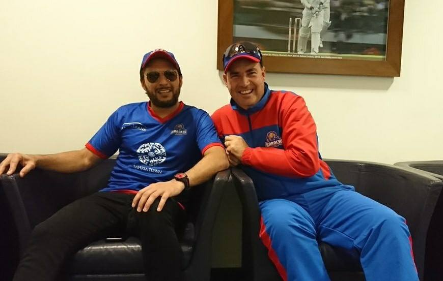 Shahid Khan Afridi With Mickey Arthur