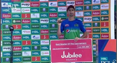 Shahnawaz Dahani Gets Award Of Best Bowler Of The Tournament