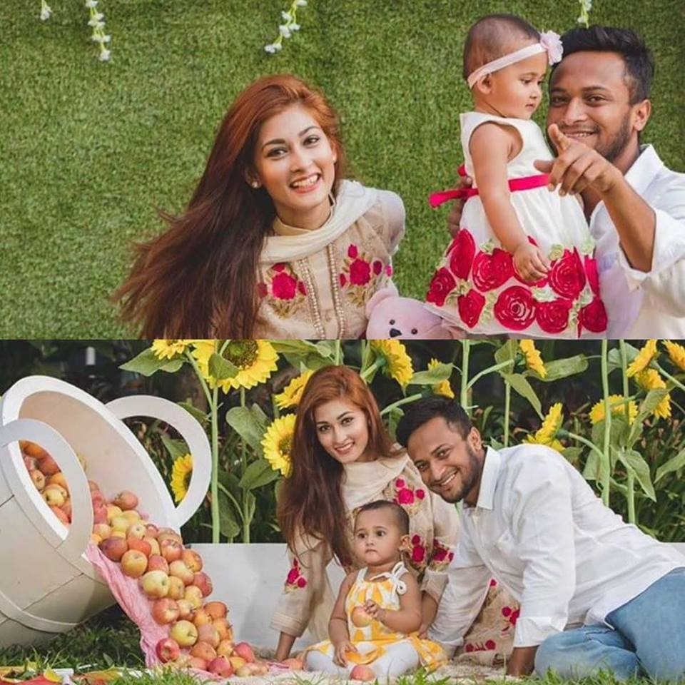 Shakib ul Hasan With His Family