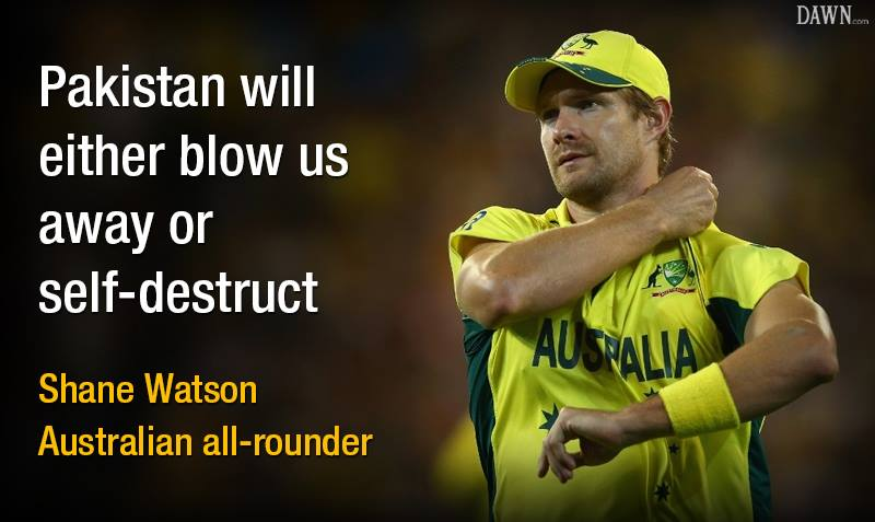Shane Watson Response To Pak Vs Aus Quarter Final
