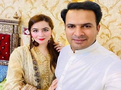 Sharjeel Khan Celebrates Eid With His Wife