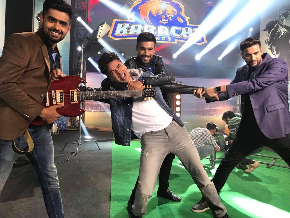 Shehzad Roy With The Karachi Kings Players
