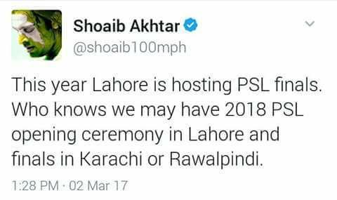 Shoaib Akhtar Tweet