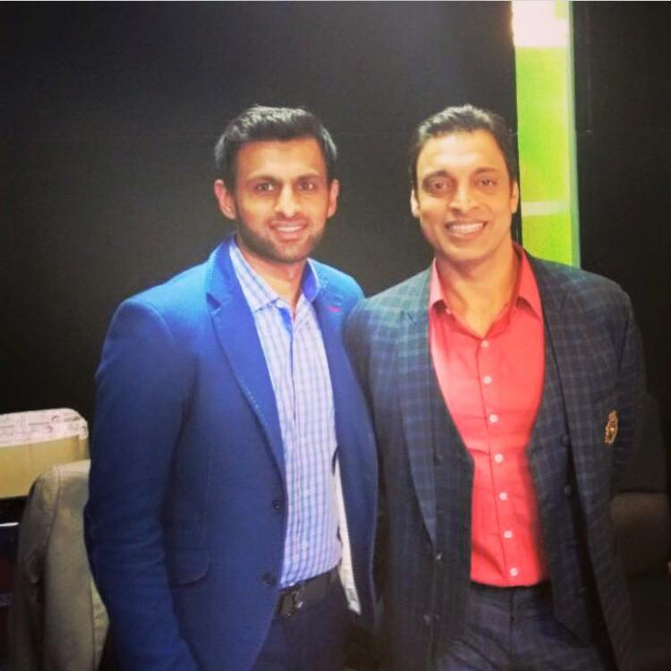 Shoaib Akhtar With Shoaib Malik Latest Photo